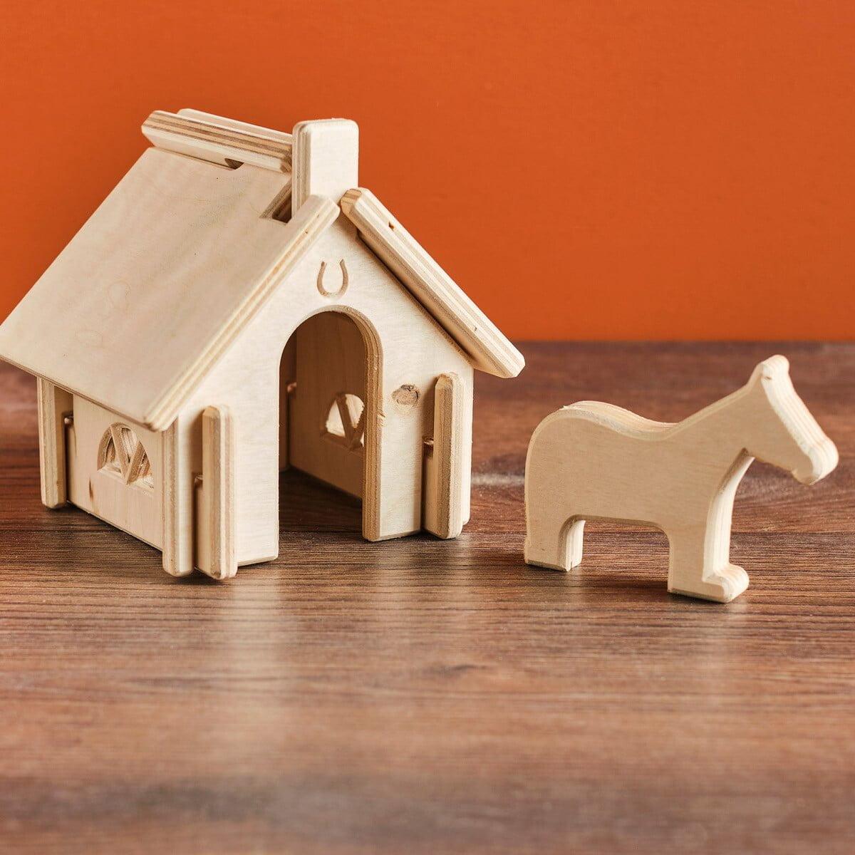 speelgoed stal en paard