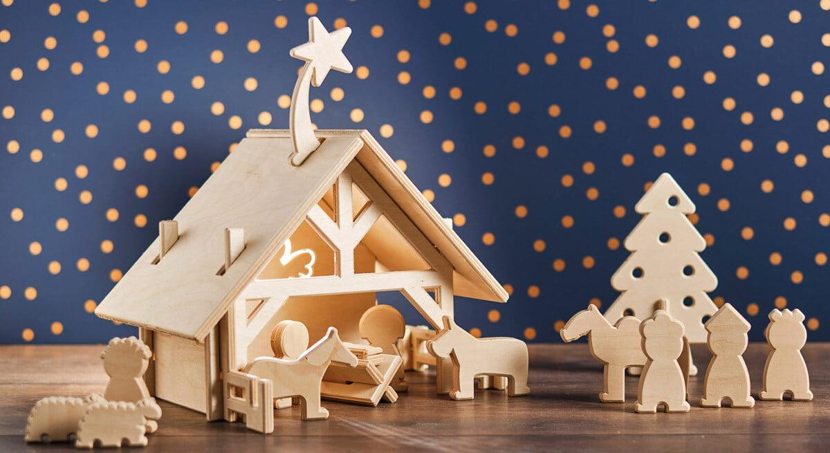 kerststal met figuurtjes