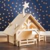 houten speelgoed kerststal